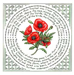 Poppies literary calligraphy art print features poem by an unknown poppies mightylinksfo
